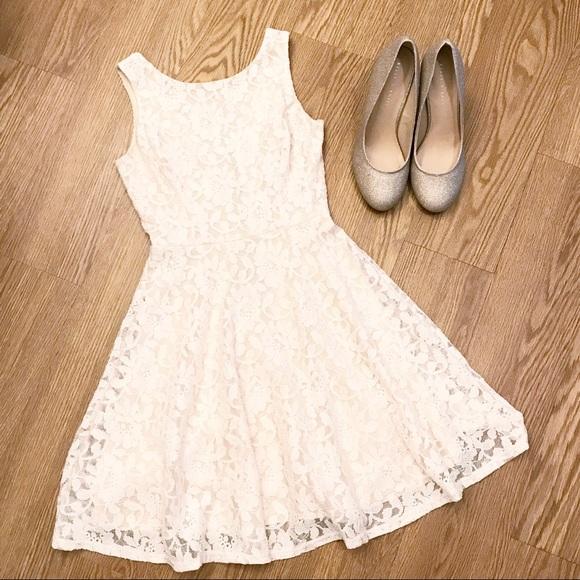 851408c678d28 Speechless Dresses | Cream White Lace Low Back Dress Xs | Poshmark